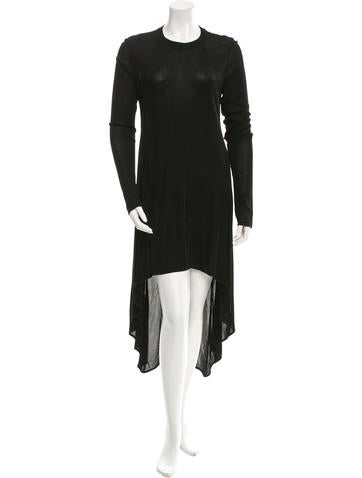 Alexander Wang Hi-Low Rib Knit Dress None