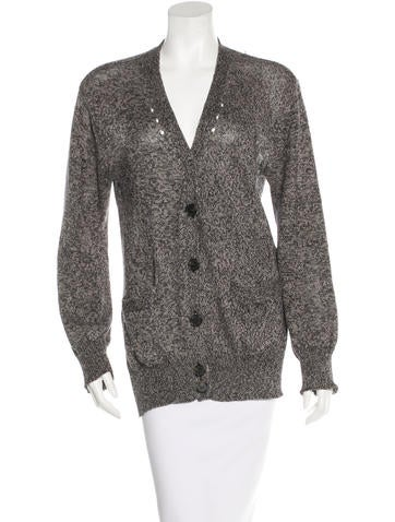 Alexander Wang Shredded Button-Up Cardigan None