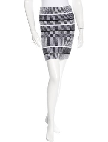Alexander Wang Striped Mini Skirt None