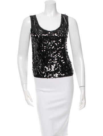 Anna Sui Embellished Sleeveless Top None