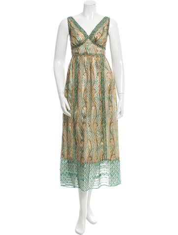 Anna Sui Silk Maxi Dress None