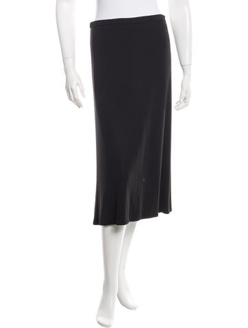 Andrew Gn Rib Knit Midi Skirt None
