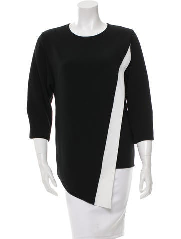 Andrew Gn Asymmetrial Two-Tone Top