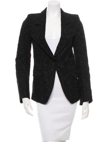 Ann Demeulemeester Patterned Single-Closure Blazer w/ Tags None