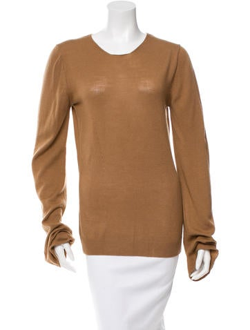 Ann Demeulemeester Long Sleeve Scoop Neck Sweater None