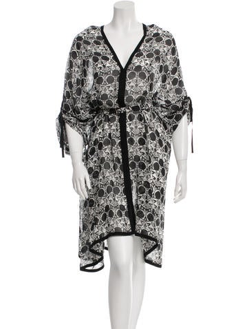 Ann Demeulemeester Silk Printed Dress