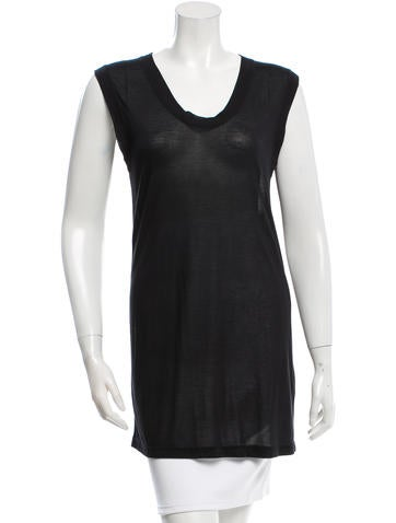Ann Demeulemeester Sheer Scoop Neck Top w/ Tags None
