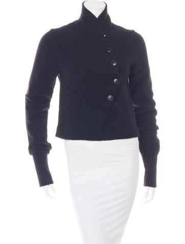 Ann Demeulemeester Cropped High Neck Cardigan None