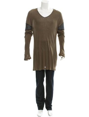 Ann Demeulemeester Long Sleeve Rib Knit T-Shirt None