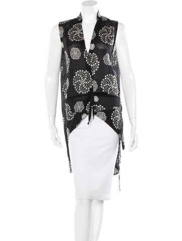 Ann Demeulemeester Embroidered Sleeveless Top None