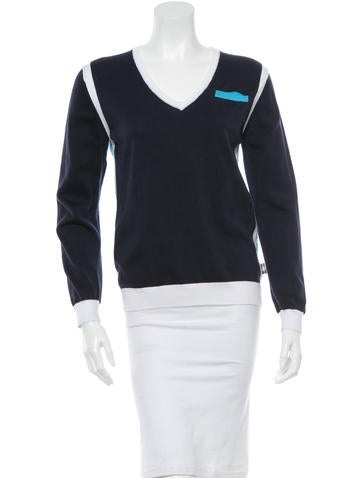 Aquascutum Knit V-Neck Sweater
