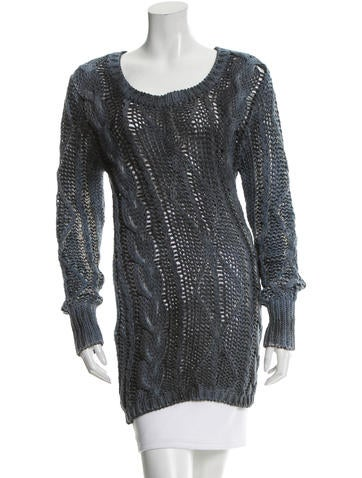 Avant Toi Open Knit Scoop Neck Sweater w/ Tags None