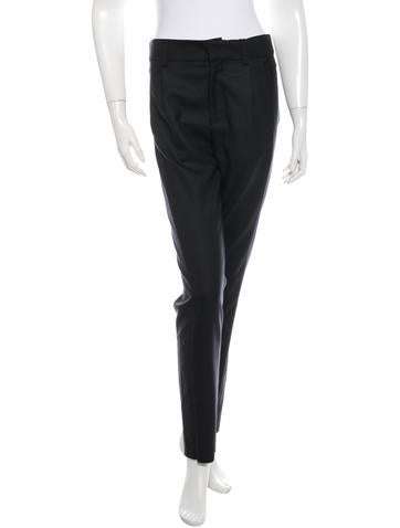 Anthony Vaccarello Virgin Wool Skinny-Leg Pants w/ Tags None