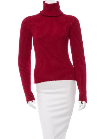 Anthony Vaccarello Cashmere Rib Knit Sweater w/ Tags None