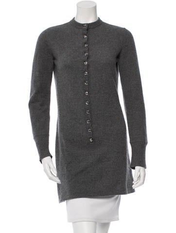 Azzaro Embellished Sweater Dress None