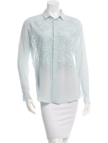 Barbara Bui Silk Embroidered Top None