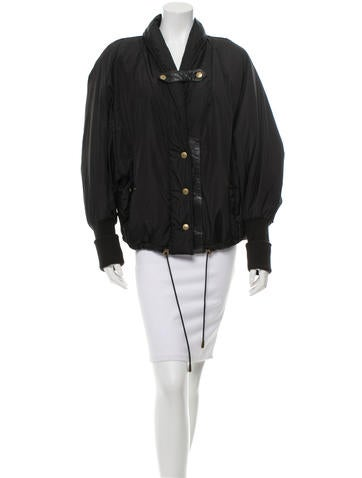 Barbara Bui Leather-Trimmed Oversize Jacket None