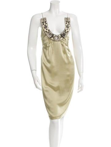 Barbara Bui Silk Embellished Dress None