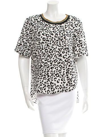 Barbara Bui Snow Leopard Print Top w/ Tags None