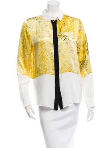 Barbara Bui Silk Printed Top w/ Tags None
