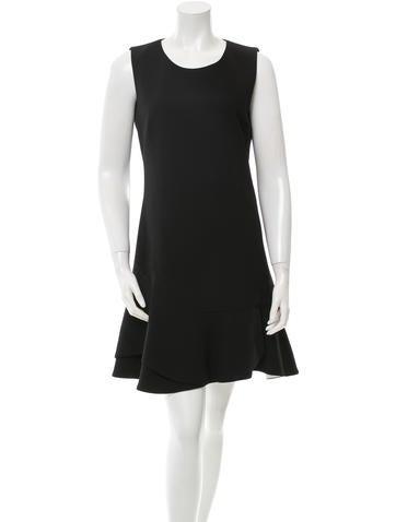 Barbara Bui Sleeveless Ruffled Mini Dress None