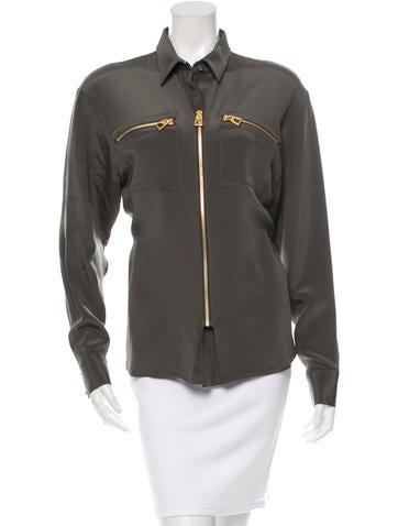 Barbara Bui Silk Long Sleeve Top w/ Tags None