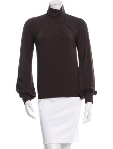 Barbara Bui Long Sleeves Pleated Top None