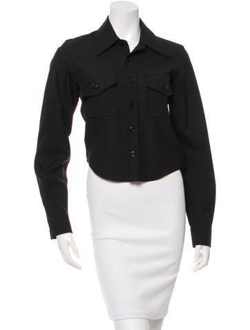 Balenciaga Long Sleeve Button-Up Top None