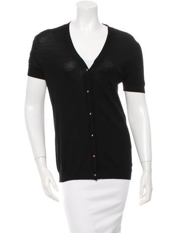 Balenciaga Wool Short Sleeve Cardigan None