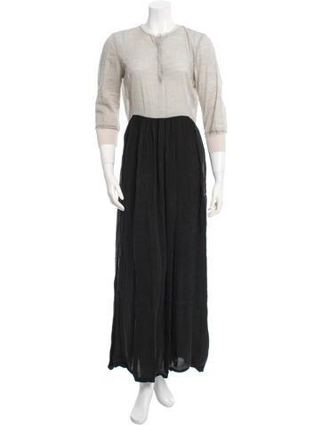 Balenciaga Pleated Maxi Dress None