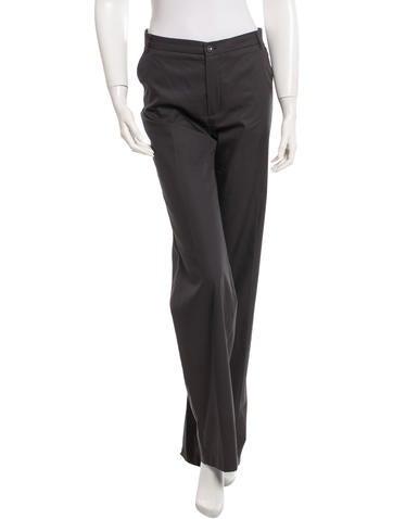 Balenciaga Pleated Bootcut Pants None