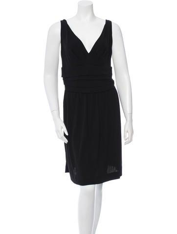 Balenciaga Sleeveless V-Neck Dress None