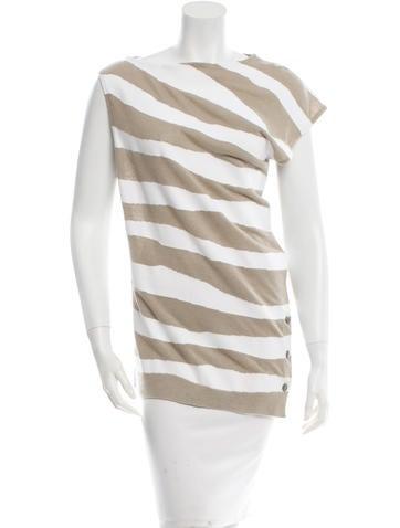 Balenciaga Sleeveless Striped Top None