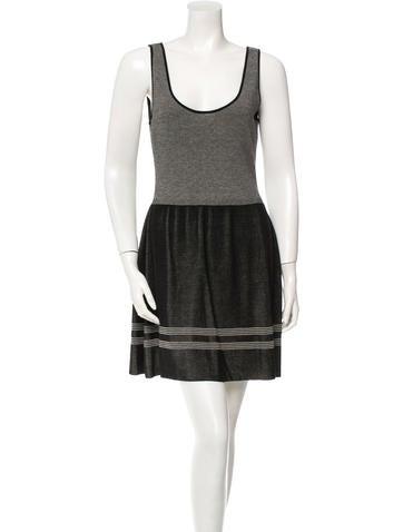 Balenciaga Sleeveless Striped Dress None