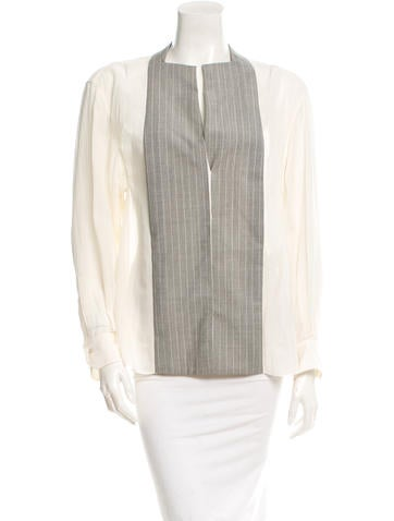 Balenciaga Striped Button-Up Top None