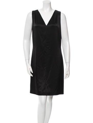 Balenciaga Satin Sleeveless Dress None