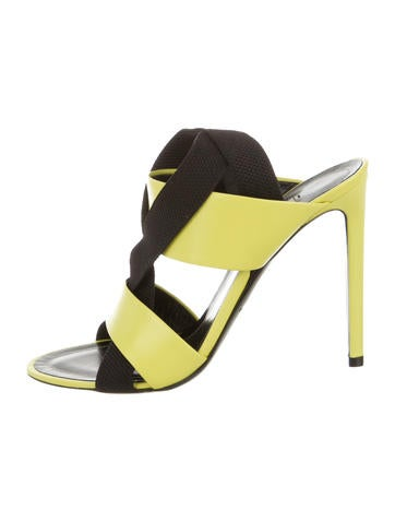 Balenciaga Neon Leather Sandals w/ Tags