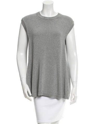 Balenciaga Knit Sleeveless Top None