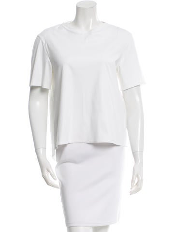 Balenciaga Scoop Neck High Low T Shirt Clothing
