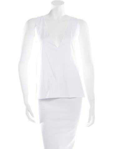 Balenciaga Sleeveless V-Neck Top None