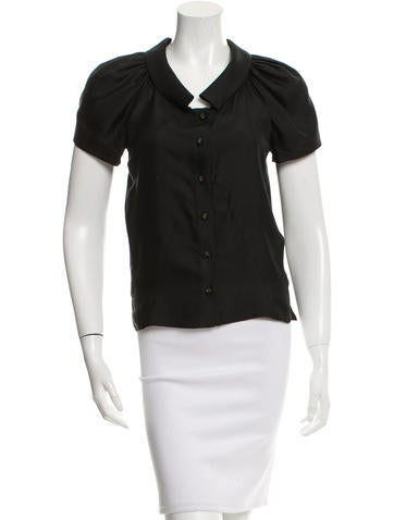 Balenciaga Silk Button-Up Top None