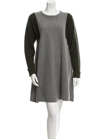 Balenciaga Wool Colorblock Dress None