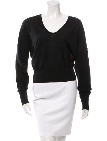 Balenciaga Scoop Neck Wool Sweater None