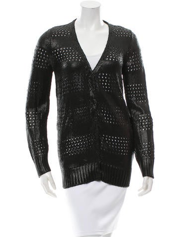 Balenciaga V-Neck Open Knit Cardigan w/ Tags None