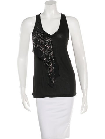 Balenciaga Embellished Sleeveless Top w/ Tags None