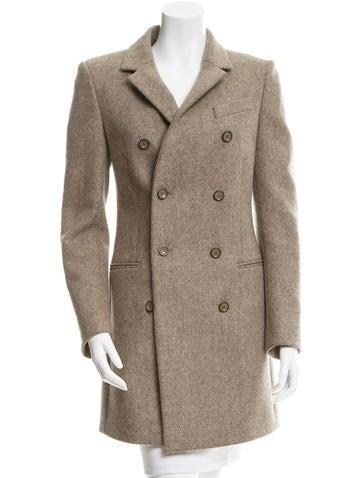 Balenciaga Wool Double-Breasted Coat None