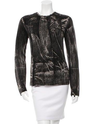Balenciaga Wool Two-Tone Top None