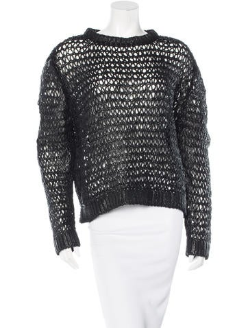 Balenciaga Coated Open Knit Sweater w/ Tags None