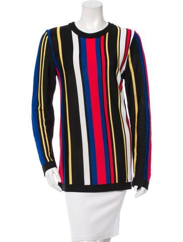 Balmain Striped Semi-Sheer Sweater None