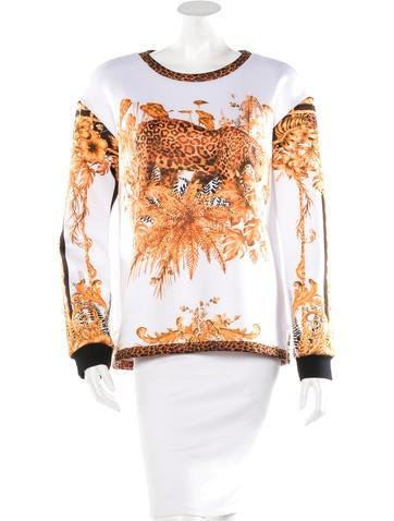Balmain Leopard Print Crew Neck Sweatshirt None